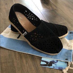 New! Suede Black Toms